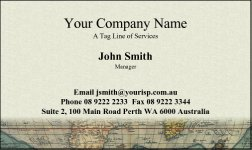 Business Card Design 4 for the Transportation Industry.