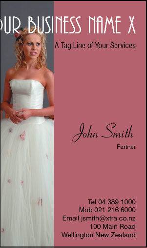 Business Card Design 573 for the Wedding Industry.