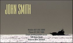 Business Card Design 527 for the Nautical Industry.