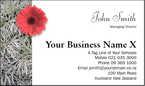 Business Card Design 744 for the Gardening Industry.