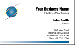 Business Card Design 15 for the IT Industry.
