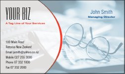 Business Card Design 544 for the Bookkeeping Industry.
