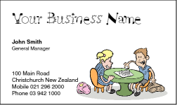 Business Card Design 185 for the Baby Sitting Industry.