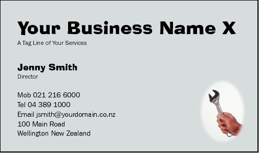 Business Card Design 182 for the Mechanical Industry.