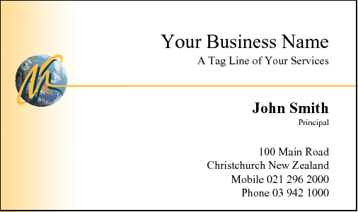 Business Card Design 10 for the Financial Industry.