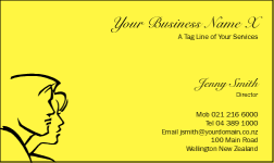 Business Card Design 820 for the Hairdressing Industry.