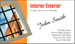 Business Card Design 549 for the Interior Design Industry.