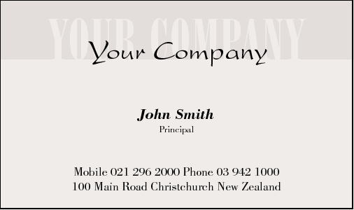 Business Card Design 343 for the Consulting Industry.