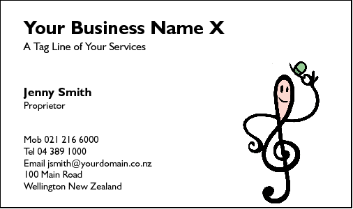 Business Card Design 210 for the Music Industry.