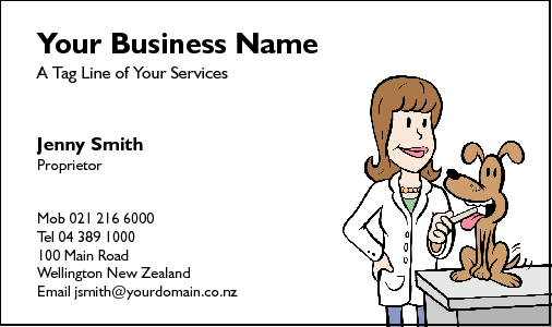 Business Card Design 217 for the Veterinarian Industry.