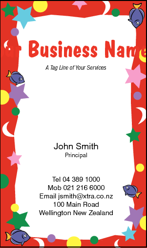 Business Card Design 790 for the Party Industry.