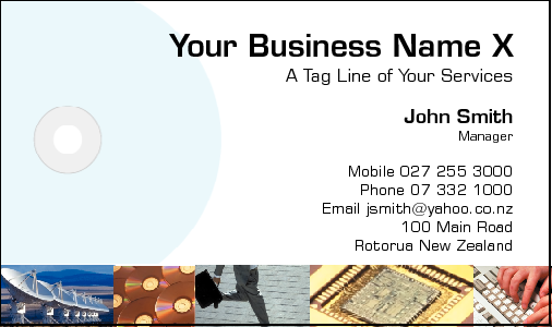 Business Card Design 183 for the IT Industry.