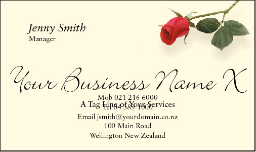 Business Card Design 368 for the Floristry Industry.