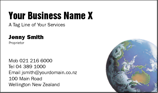 Business Card Design 93 for the Travel Industry.