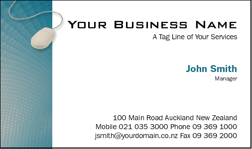Business Card Design 767 for the Computer Repair Industry.