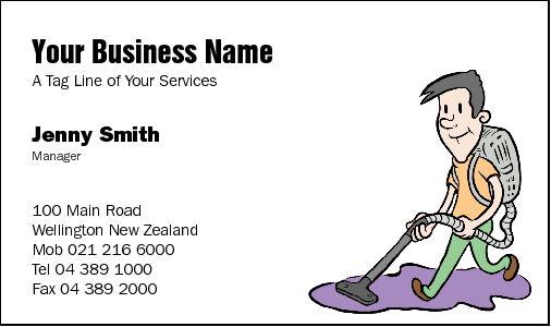 Business Card Design 28 for the Cleaning Industry.