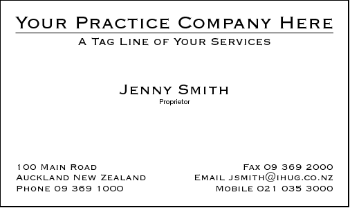 Business Card Design 386 for the Physiotherapy Industry.