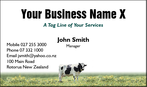 Business Card Design 451 for the Farming Industry.