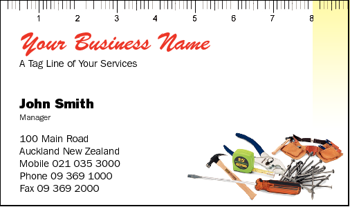 Business Card Design 781 for the Carpentry Industry.