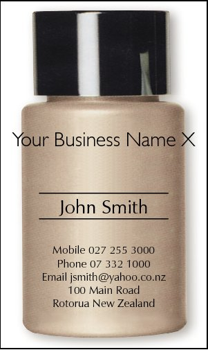 Business Card Design 222 for the Cosmetic Industry.
