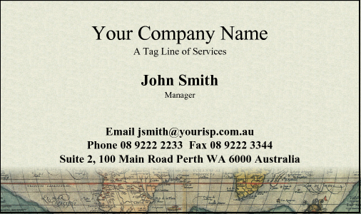 Business Card Design 4 for the Travel Industry.